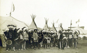Wild West Bill with Indians